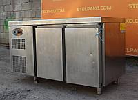 Холодильный стол из нержавеющей стали «SAGI LM14» 1.4 м., (Италия), полезный объём 250 л., Б/у
