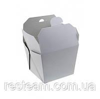 Коробка бумажная для ВОК 700мл 85*85*82,5мм, белая 25шт/уп