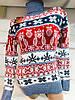 Турецкий свитер с зимними рисунками совы Gerekli 3002 (в расцветках 42-46), фото 2