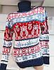 Турецкий свитер с зимними рисунками совы Gerekli 3002 (в расцветках 42-46), фото 3