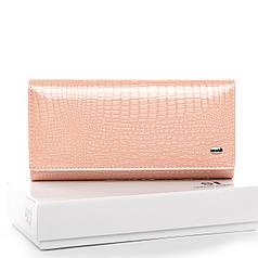 Кошелек женский кожаный на кнопке нежно розовый Sergio Torretti W1-V