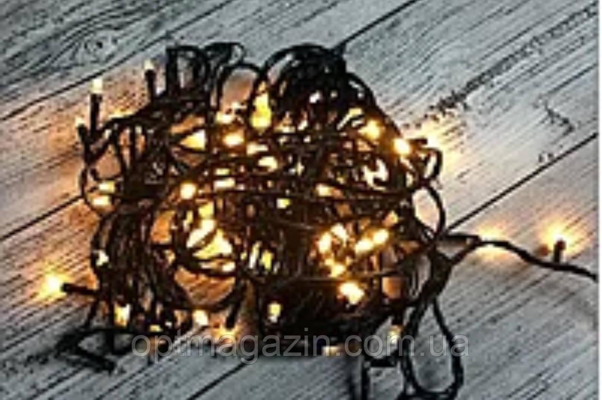 Гирлянда чорний шнур кришталь 100 LED мультиколір