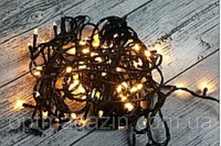 Гирлянда чорний шнур кришталь 100 LED мультиколір, фото 2