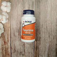 Now Foods Taurine 100 caps 500 mg, аминокислота таурин Нау фудс