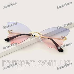 Солнцезащитные очки в форме бабочки. Женские очки. Очки для фотосесии