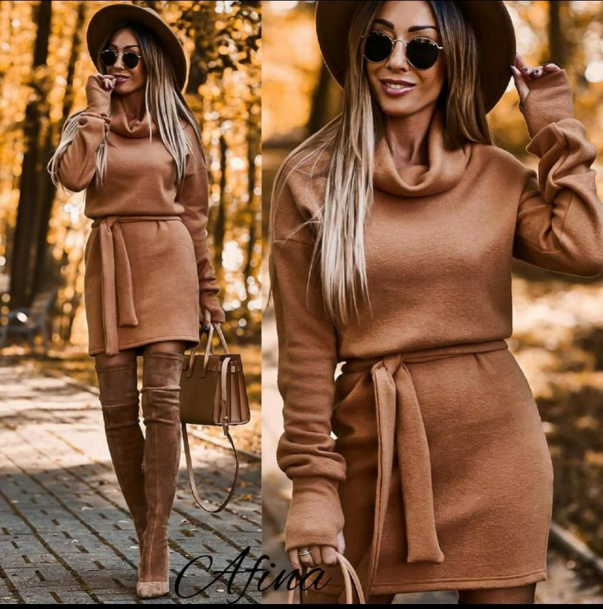Женское платье стильное, повседневное. Размеры: 48-50, 50-52. Ткань:ангора (Турецкая).