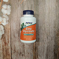 Now Foods Zinc Glycinate 120 sof, глицинат цинка Нау фудс, фото 1