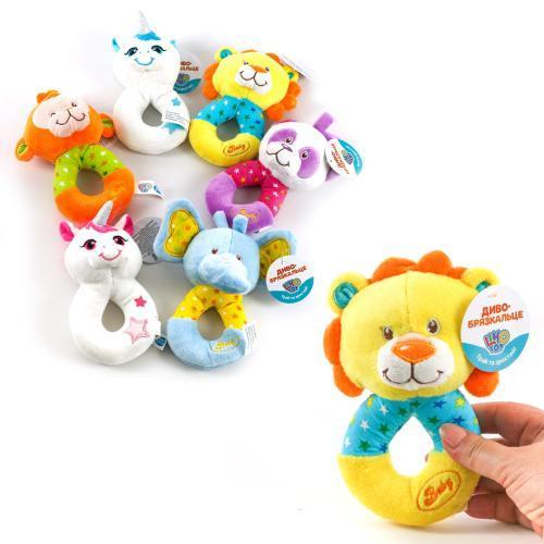 """Погремушка Limo Toy """"Животное"""", плюшевая, 6 видов, A8180-D8044"""