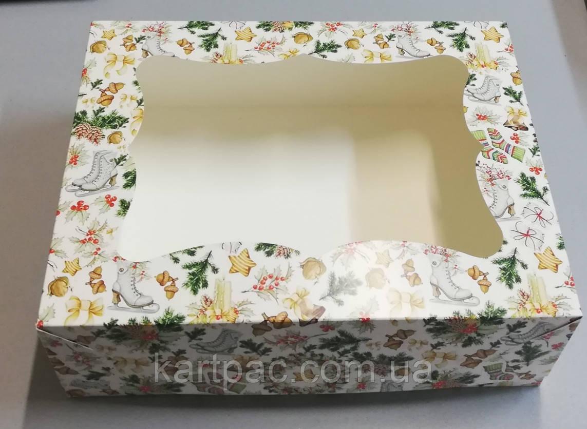 Коробка кондитерська транспортувальна 330х255х110