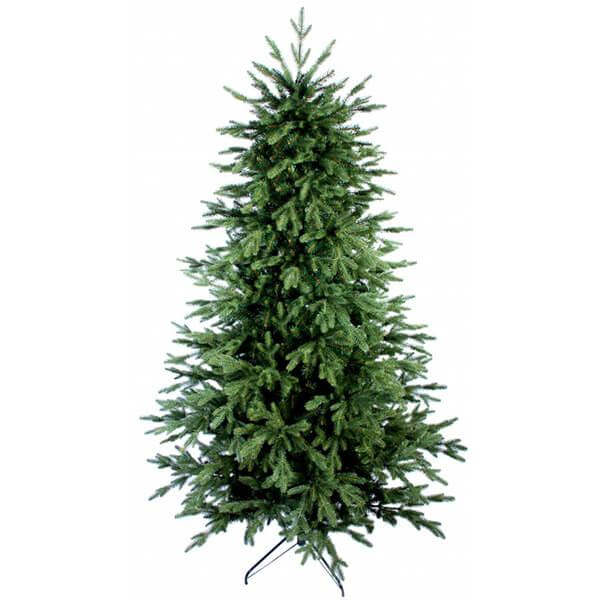 Искусственная елка «Адель» 2,2 м, комбинированная 220 см, пленка ПВХ, пластиковые ветки, скрученная нитками