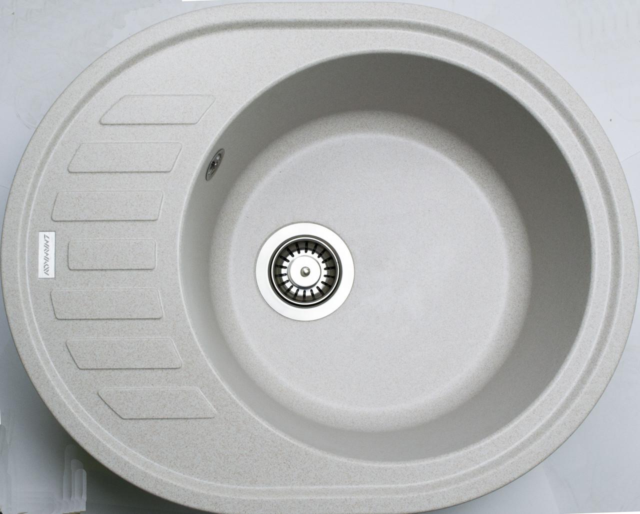 Гранитная кухонная мойка Adamant OVUM AVENA-06