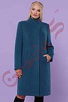 Женское кашемировое пальто. Полуприталенное женское пальто.48-58 Большие размеры.
