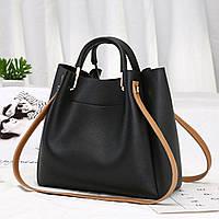 Заказ від  1000 грн, жіноча  сумочка чорна оптом FS-3626-10