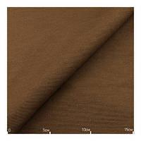 Ткань хлопок однотонная темно коричневая