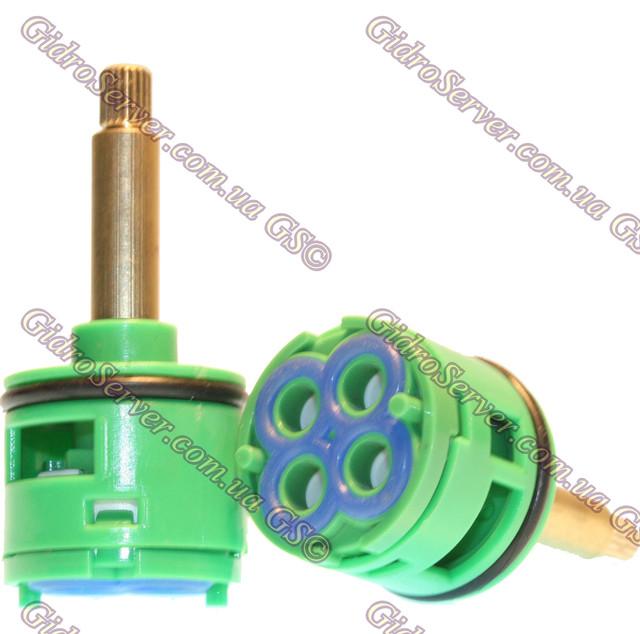 Картридж перемикач для диверторов змішувачів душових кабін, гідромасажних боксів на 4 положення, нова модифікація.