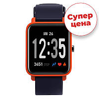 Спортивные часы JETIX FitPro с GPS трекером (Black-Orange)