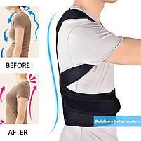 Безрозмірний коректор постави корсет для спини (ортопедичний коригуючий жилет) Back support belt М, фото 3