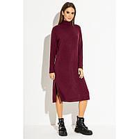 Платье женское трикотажное осеннее теплое oversize миди Joy разные цвета 42, 44, 46