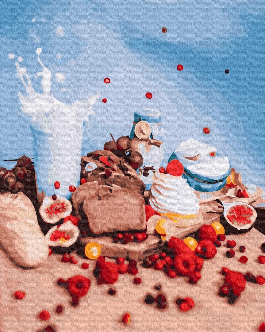 Картина рисование по номерам Brushme Полезный завтрак BK-GX25400 набор для росписи, краски, кисти, холст