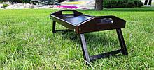 Столик для завтрака деревянный 52×32 см венге (темно-коричневый) 52322