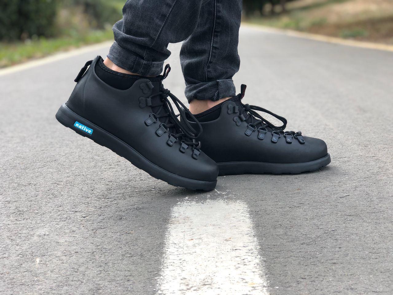 Мужские зимние ботинки Native FITZSIMMONS Black / Нейтив Фитсимонс Черные