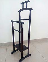 Вешалка напольная деревянная 115х45х36 венге (темно-коричневая). Вешалка для одежды напольная