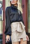 """Брендовий блуза Jadone Fashion """"Гранде"""" шовк «Армані» (4 кольори, р. S-XL), фото 2"""