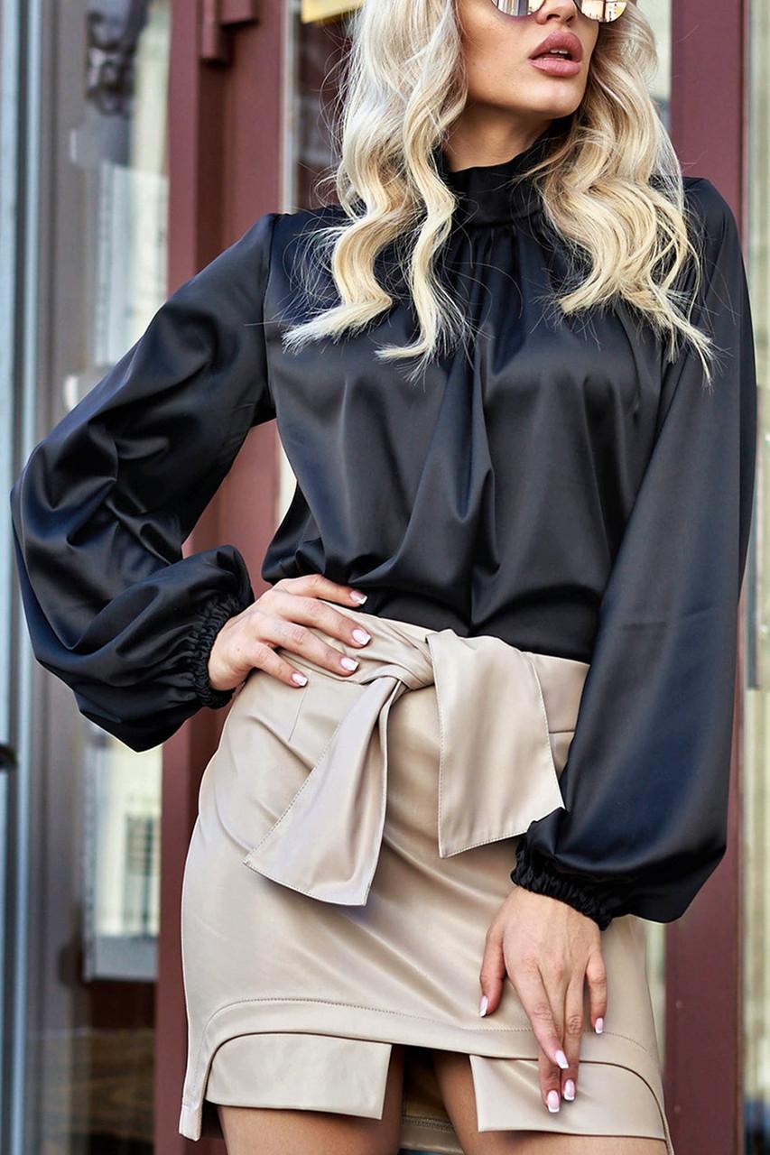 """Брендовий блуза Jadone Fashion """"Гранде"""" шовк «Армані» (4 кольори, р. S-XL)"""