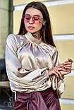 """Брендовий блуза Jadone Fashion """"Гранде"""" шовк «Армані» (4 кольори, р. S-XL), фото 4"""