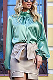 """Брендовий блуза Jadone Fashion """"Гранде"""" шовк «Армані» (4 кольори, р. S-XL), фото 6"""
