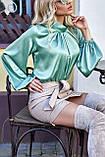 """Брендовий блуза Jadone Fashion """"Гранде"""" шовк «Армані» (4 кольори, р. S-XL), фото 7"""