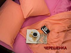"""Евро макси набор однотонного постельного белья 200*220 из Бязи """"Gold"""" №15760AB Черешенка™"""