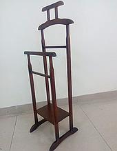 Вешалка напольная деревянная 115х45х36 орех (темно-коричневая). Вешалка для одежды напольная