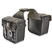 Боковые сумки кожа H01 Harley Davidson, фото 1