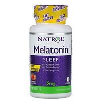 Мелатонин Natrol, вкус клубника, 3 мг, 90 таблеток