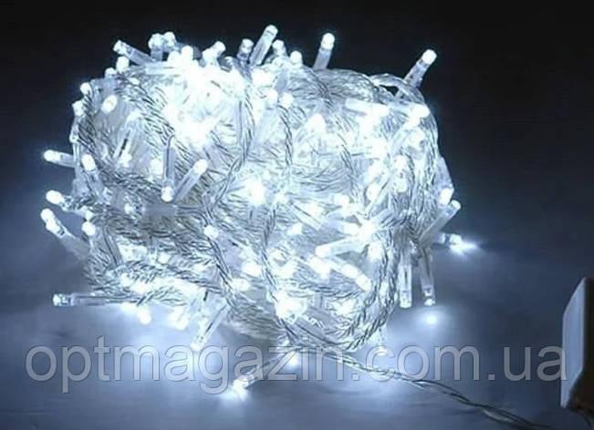 Гирлянда 300 LED 5м, на прозрачном проводе, фото 2