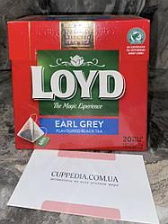 Чорний чай Loyd Earl Grey з бергамотом (20 пакетиків)