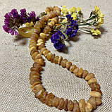 Бусы из натурального необработанного лечебного янтаря, фото 3