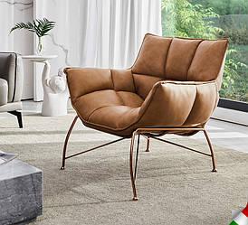 Мягкое кожаное кресло. Модель 1-785