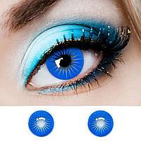 "Голубі контактні лінзи ELITE Lens ""Blue Angel"" 14,5 мм (N0137)"