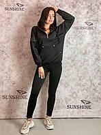 Жіночий костюм з трикотажу на велюровою підкладці Poliit 7254