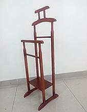 Вешалка напольная деревянная 115х45х36 яблоня (коричневая). Вешалка для одежды напольная