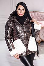 Стильна зимова куртка з капюшоном і накладними кишенями, кольори в асортименті Р-н. 44-46,48-50 Код 949В