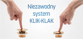 Пробка для раковины (умывальника) REA KLIK-KLAK L.GOLD, фото 3