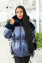 Стильна подовжена зимова куртка з капюшоном, кольори в асортименті Р-н. 44-46 Код 906В