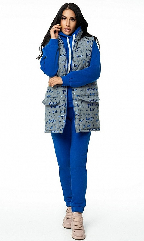 Спортивный костюм тройка 28427/2 44/46 синий