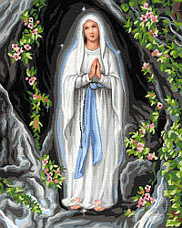 """Картина по номерам """"Богородица"""" Сложность: 3 (Ангел, Цветы, Икона, Женщина, Платье)"""