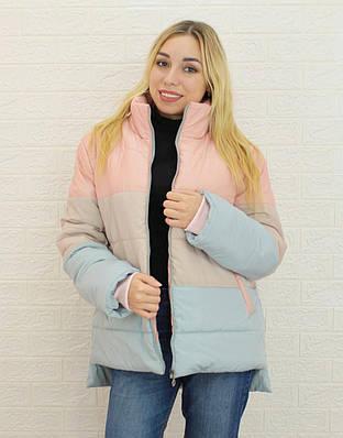 Женская светлая куртка демисезонная
