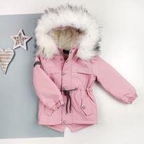 Детская зимння непромокаемая парка оптом (5шт) на меху с утеплителем  для девочки  (122рр-146рр)