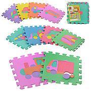 Коврик массажный Eva | Пазлы | Ортопедический детский коврик | Коврик мозаика для детей | Массажный коврик